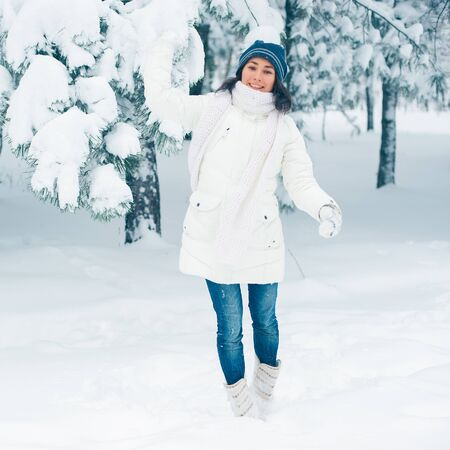 Portrait of beautiful young girl in winter day Stock Photo - 17430627