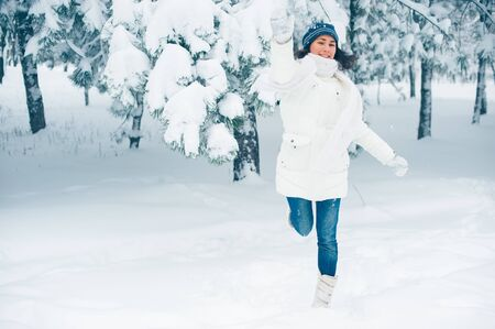 Portrait of beautiful young girl in winter day Stock Photo - 17430352