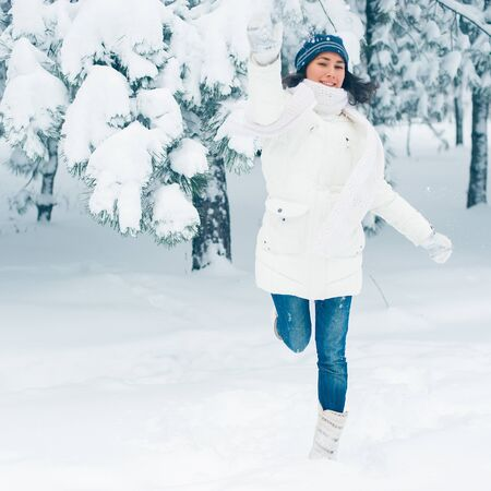 Portrait of beautiful young girl in winter day Stock Photo - 17430629