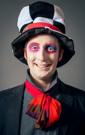 Young man in the image of the Crazy Hatter