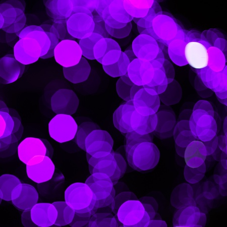 Defocused abstract blue new year lights background Stock Photo