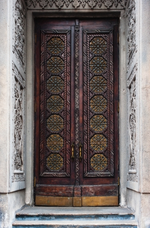 Very old and big gothic door in Kiev, Ukraine