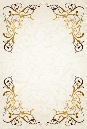 Vintage background with ornamental frame 向量圖像