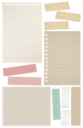 memory board: Collection of note papers