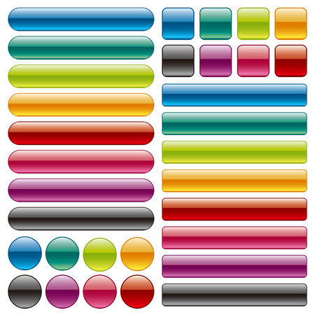 gloss: Set of colorful buttons
