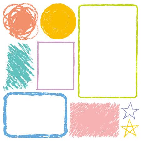 De hand beschilderd met pastelkrijt Stock Illustratie