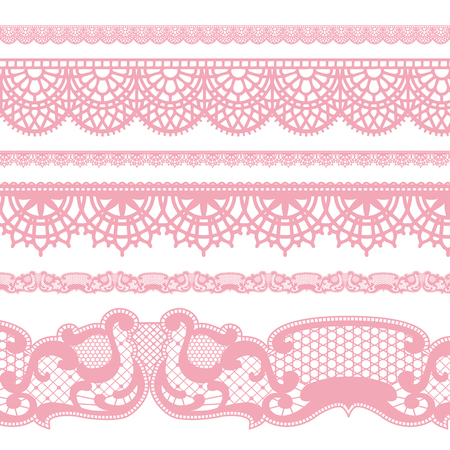 Lace borders Vectores