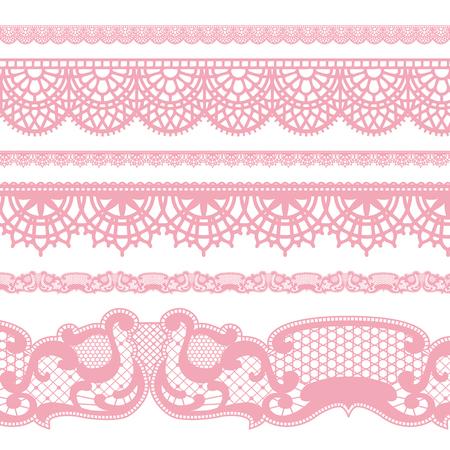 Lace borders Иллюстрация