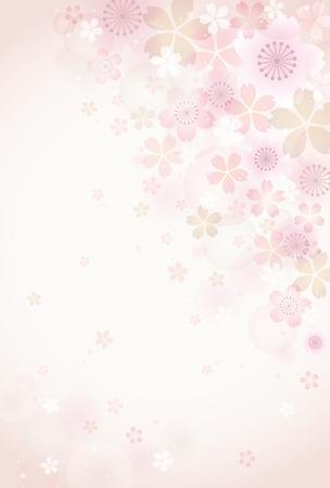 Sakura blossoms background Illustration