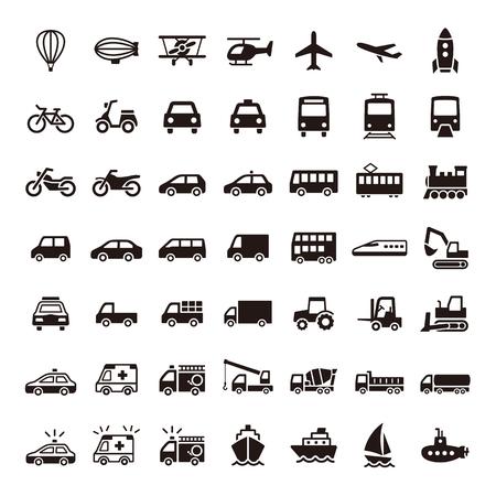 運輸: 圖標 向量圖像