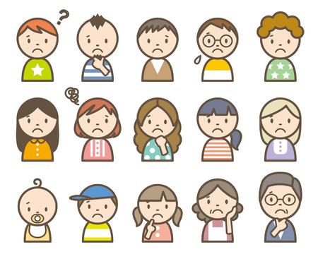worried man: People Illustration