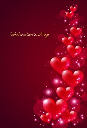 Día de San Valentín de fondo  Ilustración de vector