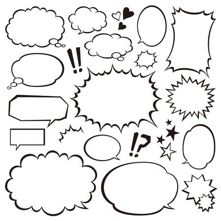 Speech bubbles  イラスト・ベクター素材
