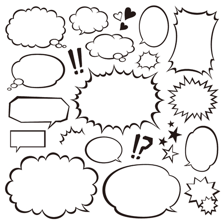 Speech bubbles 向量圖像