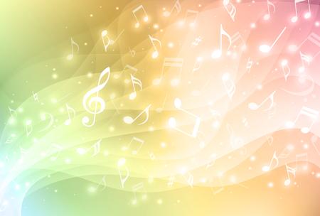 simbolos musicales: Fondo colorido de la música Vectores