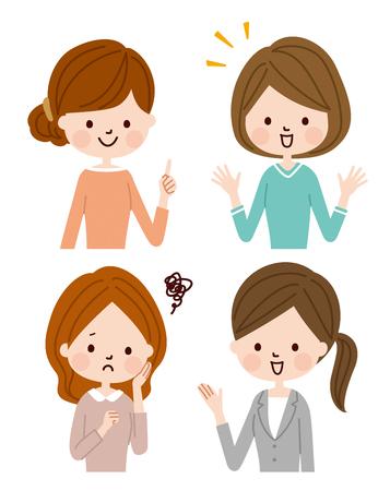 Young women talking