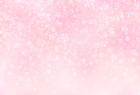 pink flower background: Sakura blossoms background Illustration