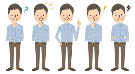 Middle aged man Illustration