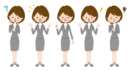 Young business woman Illustration