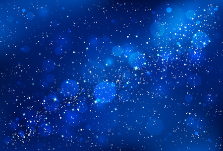 Night sky background Vectores