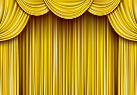 Golden curtain