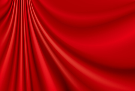 Draped red cloth Stock Illustratie