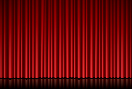 Red curtain Stock Vector - 56108462