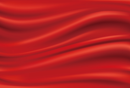 Draped red cloth Stock Illustratie