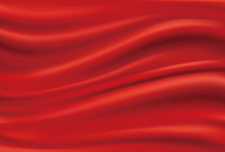 Gedrapeerde rode doek Vector Illustratie
