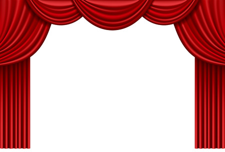 red curtain: Red curtain