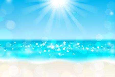 Lśnienie słońca na plaży Ilustracje wektorowe