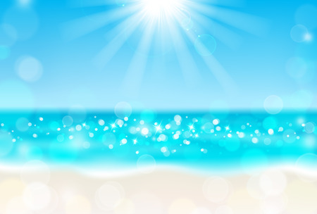 horizons: Shining sun on the beach