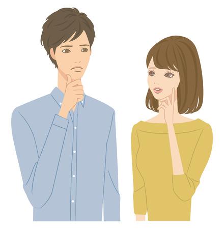personas hablando: Pares preocupantes Vectores