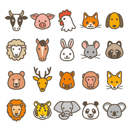 Animal icons Stock Vector - 63928595