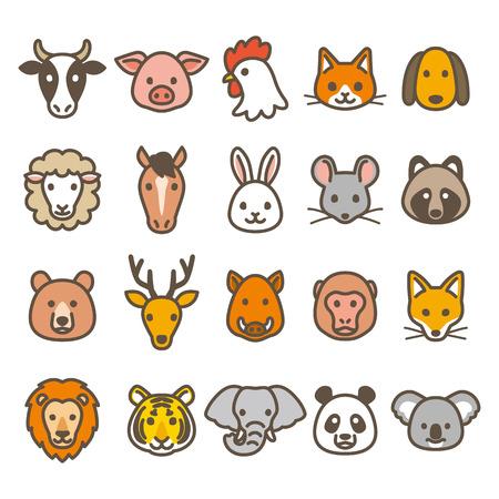dierlijke pictogrammen Stock Illustratie