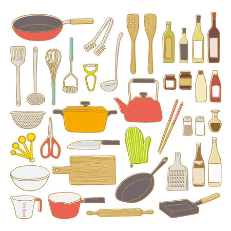 measuring spoon: Kitchenware Illustration