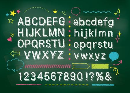 Chalkboard alphabet  イラスト・ベクター素材