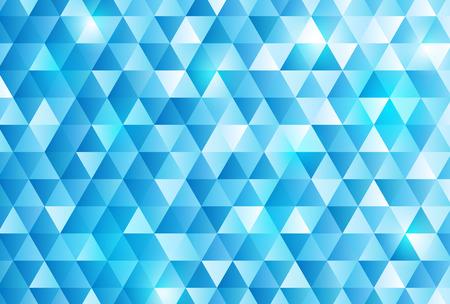 Blue triangle pattern background