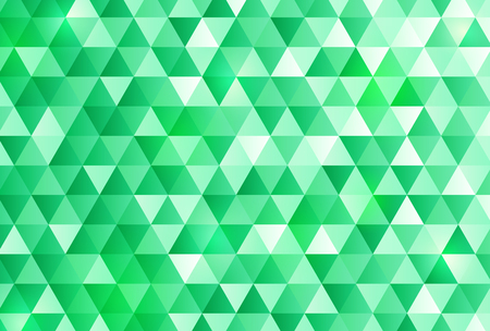 Green triangle pattern background