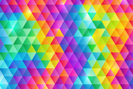 Rainbow color triangle pattern background