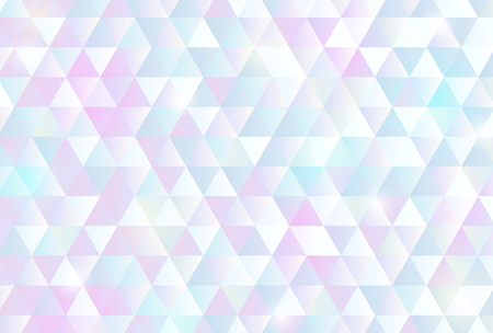 Pastel color triangle pattern background Ilustração