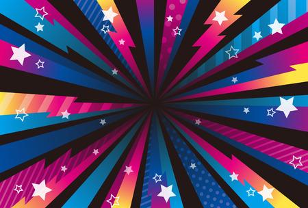 Vivid color pop art background