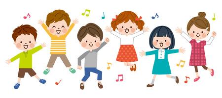 Enfants chantant des chansons Vecteurs