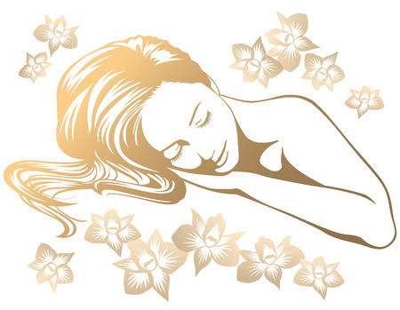 Vrouw in spa salon Vector Illustratie