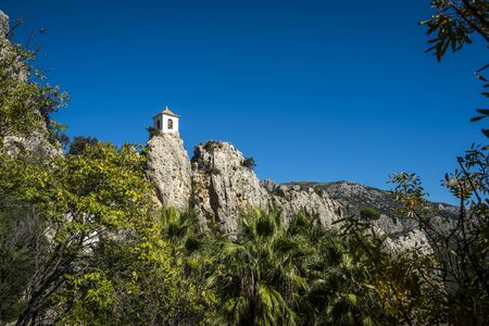 Medieval village of Guadalest, one of the most beautiful villages of Spain - Alicante Stockfoto