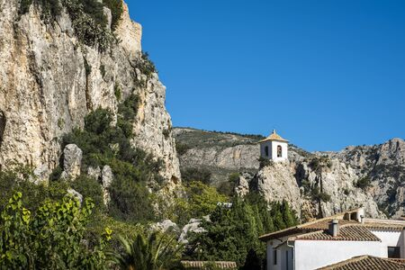 Medieval village of Guadalest, one of the most beautiful villages of Spain - Alicante Stock Photo