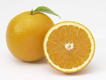 Orange and a half slice di-cut. photo