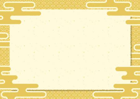 Gold leaf frame of Japanese paper Ilustrace