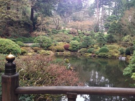 ポートランド純粋な至福の日本庭園 写真素材