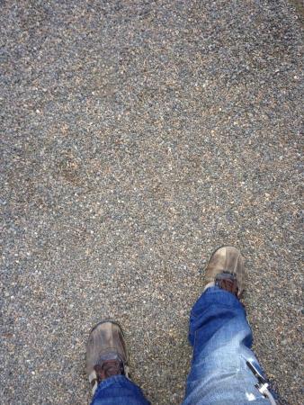 A pair of mans legs walking Banco de Imagens